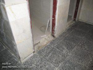 سنگ گرانیت در کف سرویس بهداشتی