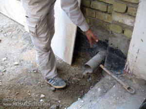 اصلاح لوله آب باران